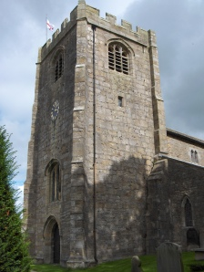 The tower of St Wilfrid at Melling.