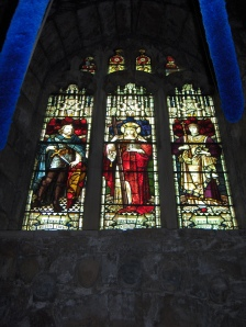 The church of St Helen at Waddington has a stained glass window depicting Henry VI on the right.