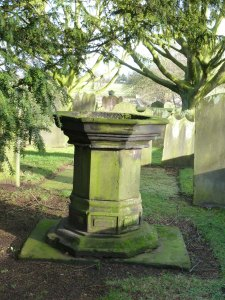 Charles Lutwidge Dodgson was baptised in this stone font.
