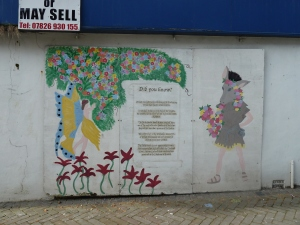 Using boarded up shops to promote heritage