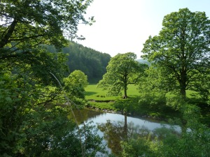 The River Hodder at Whitewell.