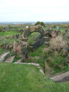 Remains of the Victorian sunken garden.