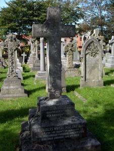 Charles Macara's grave St Annes parish church