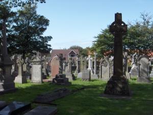 lifeboat memorial and Charles Macara's grave