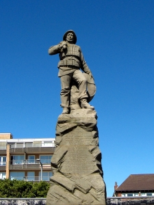 The lifeboat memorial at St Annes.